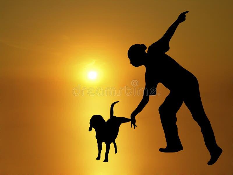 Dança 1 do cão ilustração do vetor