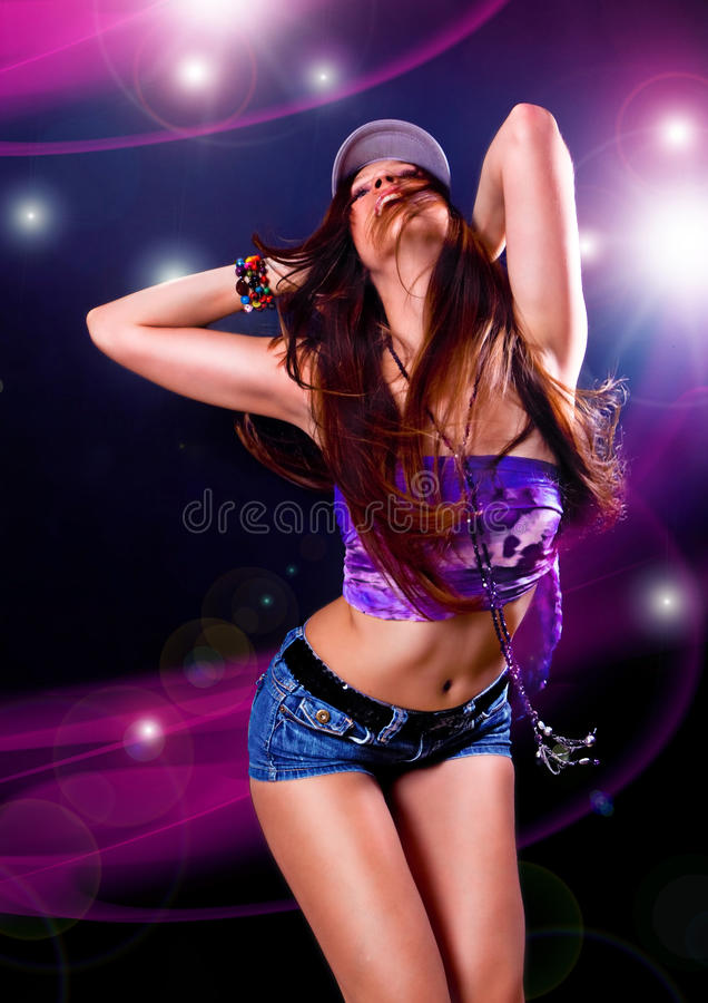 Dança 6 do disco imagens de stock royalty free