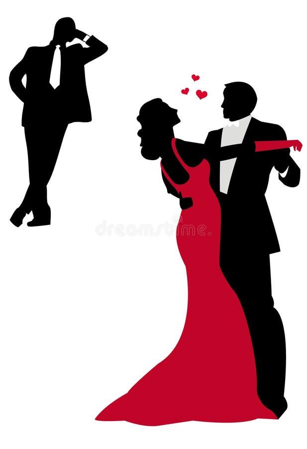 Dança ilustração royalty free
