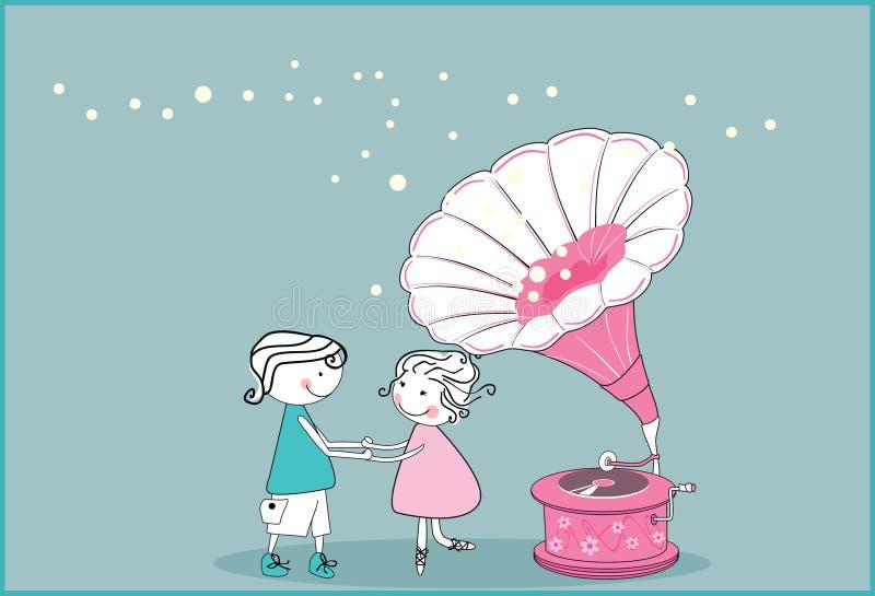 Dança ilustração stock