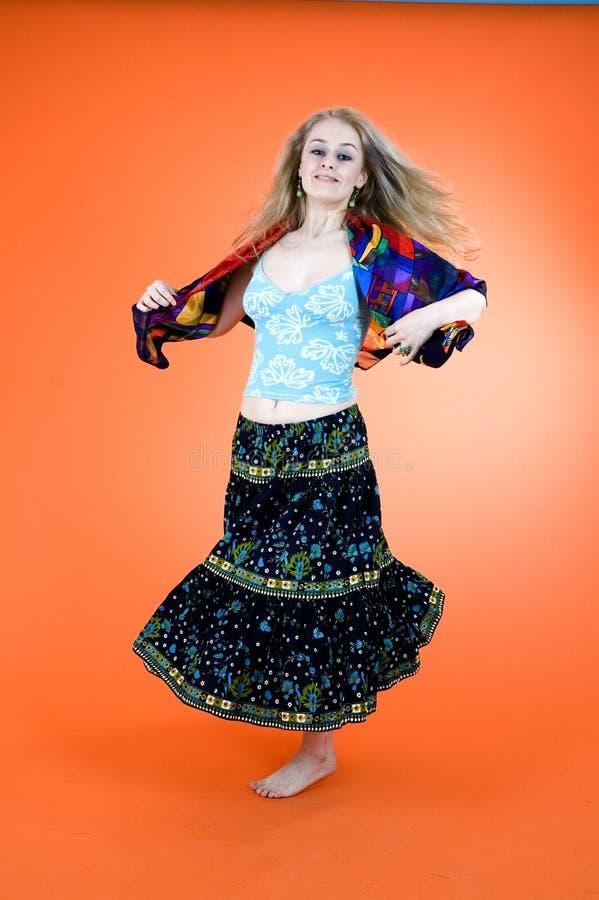 Dança aciganada fotografia de stock