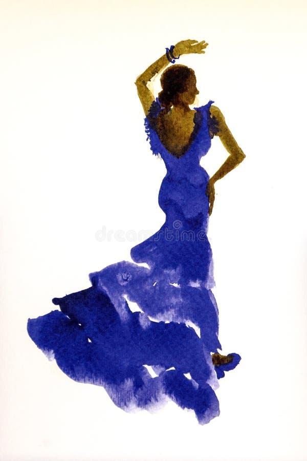 Dança aciganada ilustração do vetor