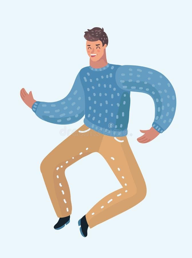 Dança adolescente feliz do indivíduo ilustração do vetor