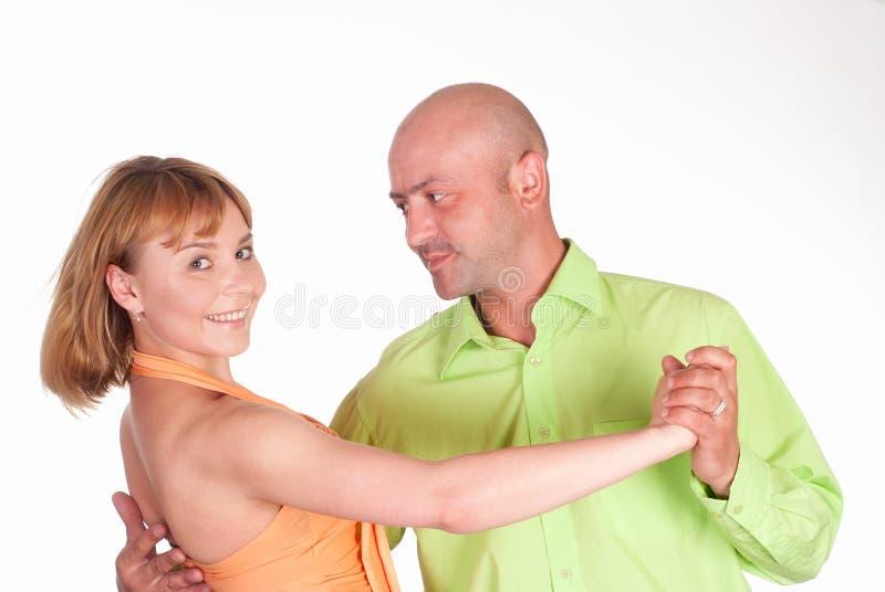 Dança agradável dos pares fotografia de stock royalty free