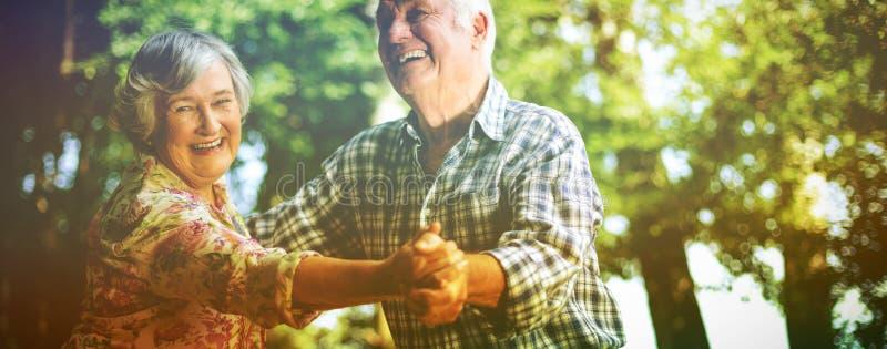 Dança alegre dos pares imagens de stock