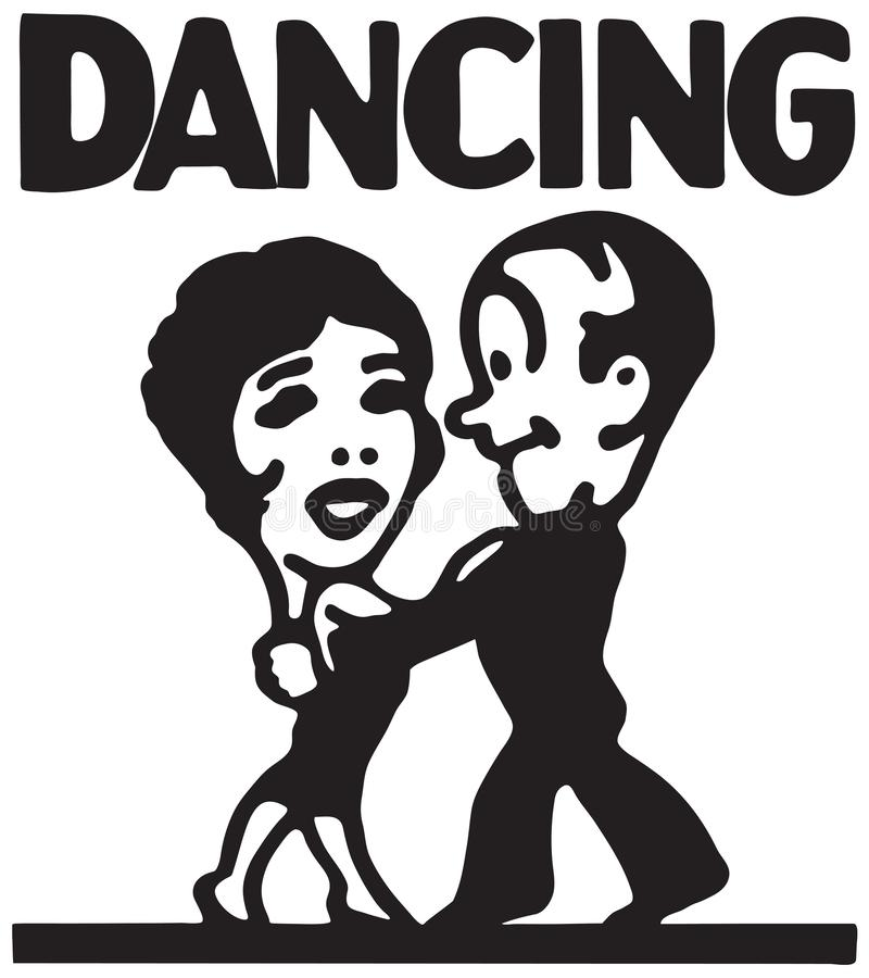 Dança 5 ilustração stock
