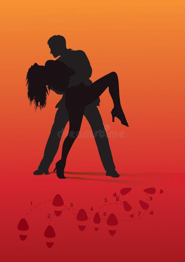Dança apaixonado ilustração do vetor