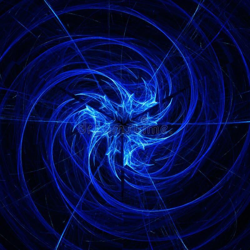 Dança azul da espiral dos anéis ilustração royalty free