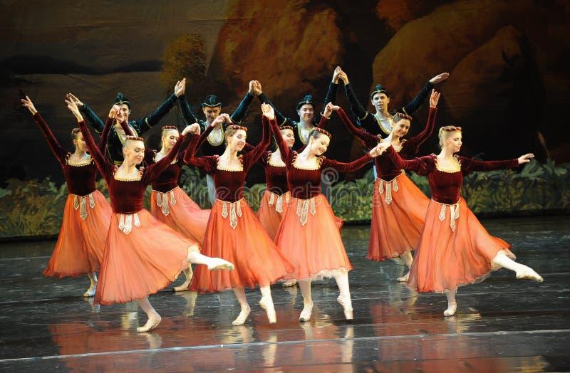 Dança-bailado O Lago das Cisnes do handshandle da agitação fotos de stock royalty free