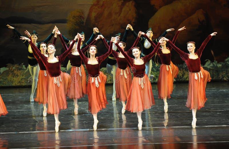 Dança-bailado O Lago das Cisnes do handshandle da agitação imagem de stock royalty free
