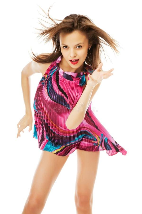 Dança bonita da menina fotos de stock