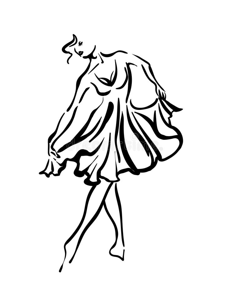 Dança bonita de uma moça fotografia de stock