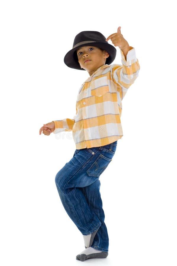 Dança bonito do menino imagem de stock royalty free