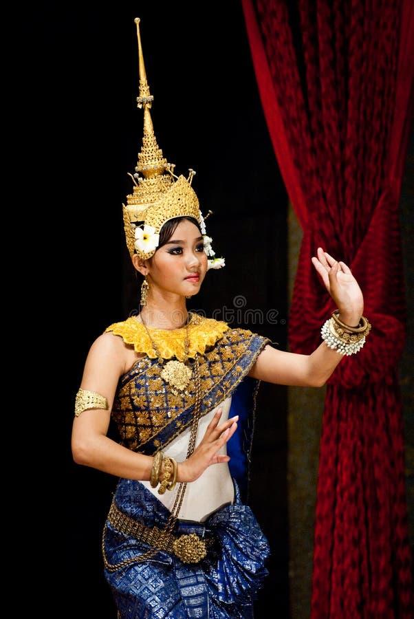 Dança cambojana tradicional imagens de stock