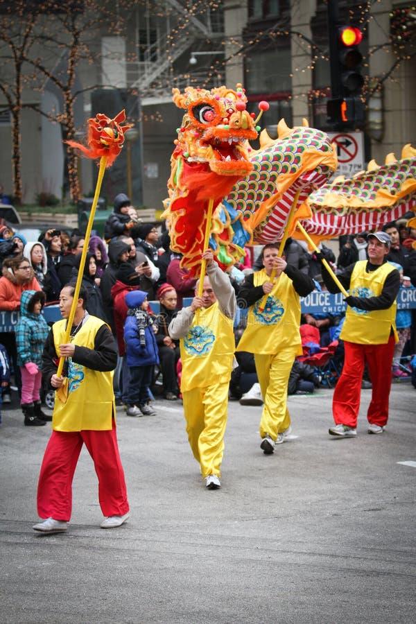 Dança chinesa do dragão fotos de stock