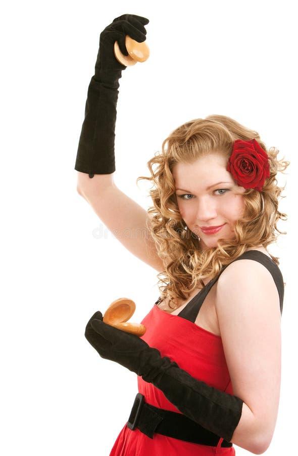 Dança com castanets foto de stock royalty free