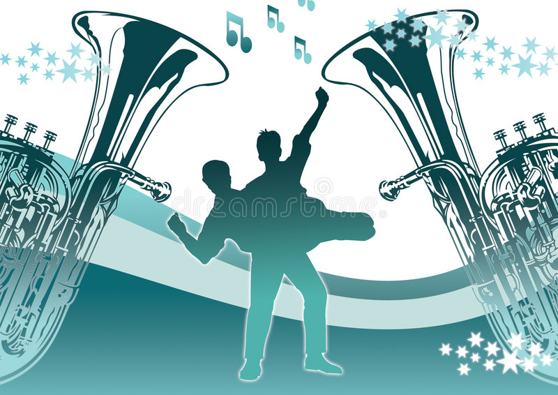 Dança com estrelas ilustração stock