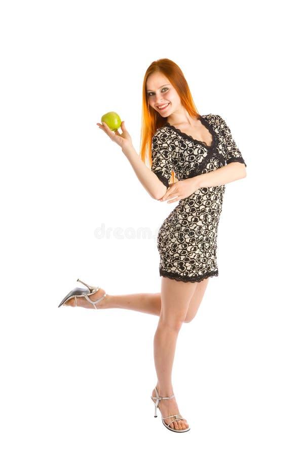 Dança com maçã foto de stock royalty free
