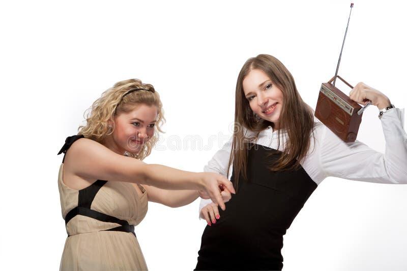 Dança com rádio fotografia de stock
