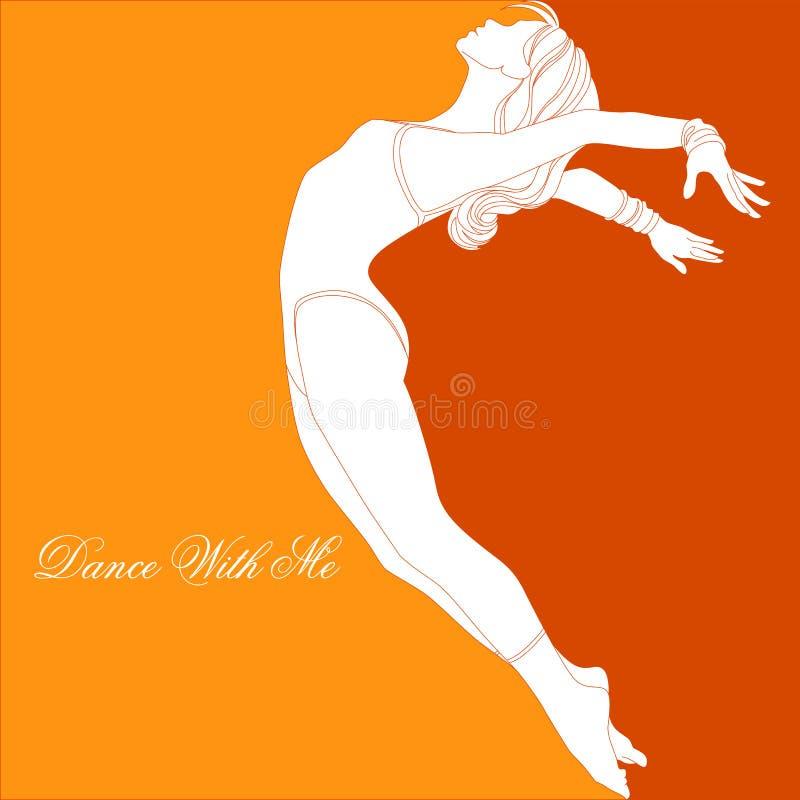 Dança comigo ilustração royalty free