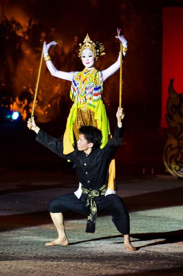 A dança da arte de Tailândia. fotografia de stock