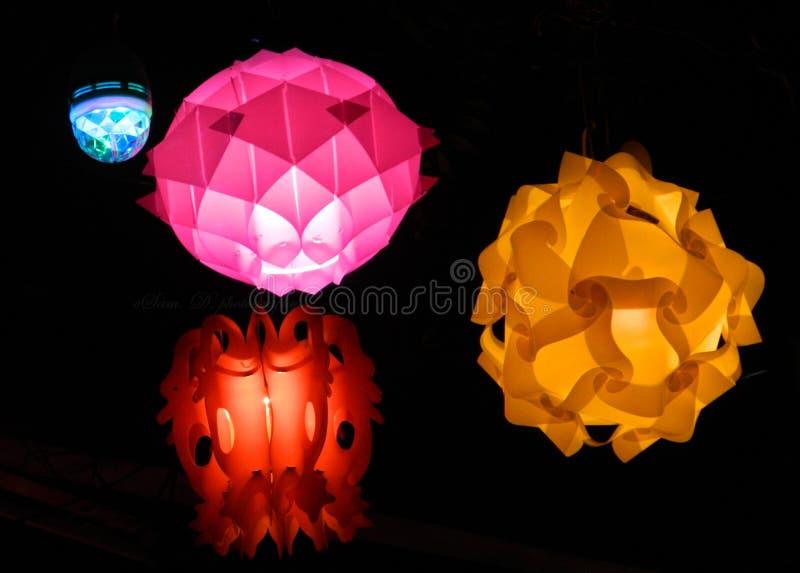 Dança da luz no tempo de Diwali foto de stock