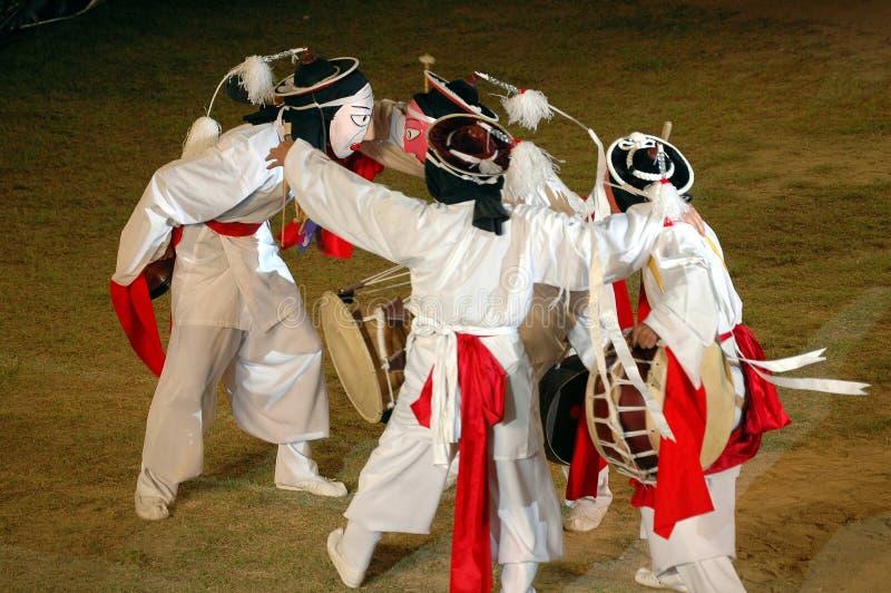 Dança da máscara foto de stock
