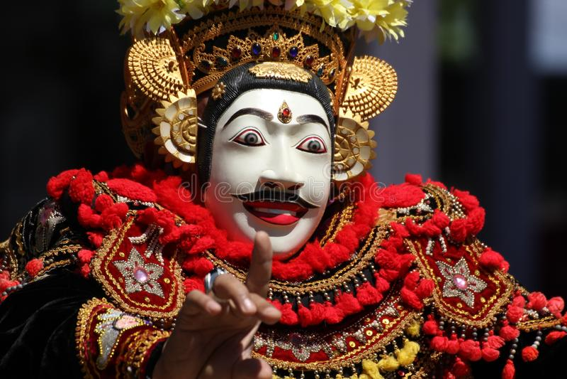 Dança da máscara do Balinese imagem de stock