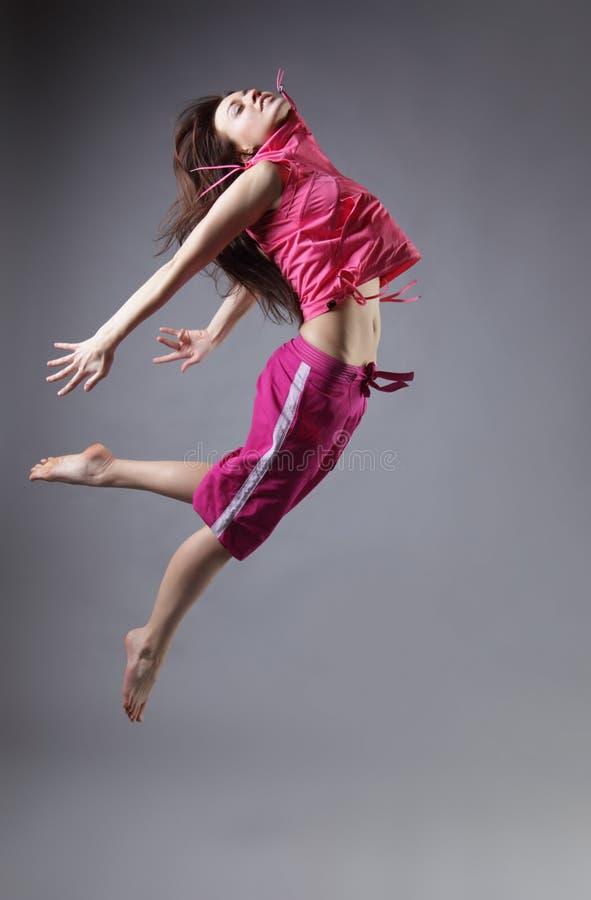 Dança da menina da beleza imagem de stock royalty free