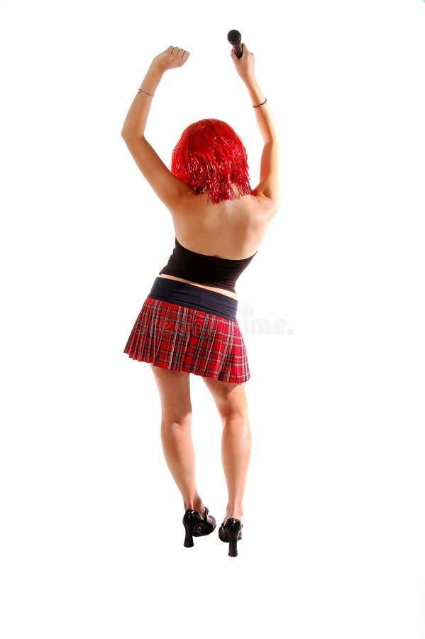 Dança da menina da rocha de Glam imagens de stock