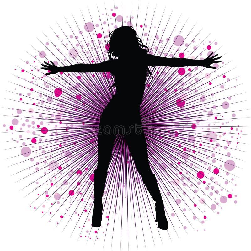 Dança da menina do vetor no night-club ilustração do vetor