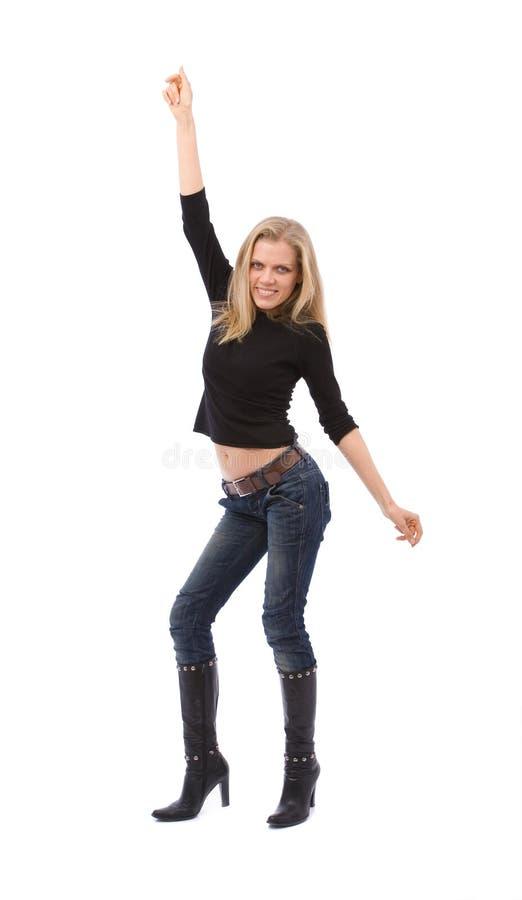 Dança da mulher fotos de stock