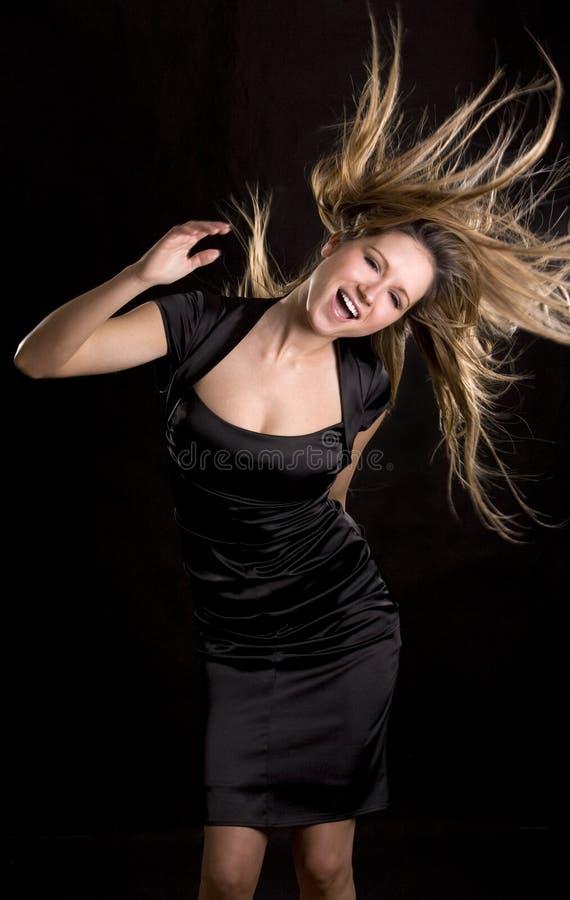 Dança da mulher imagens de stock royalty free