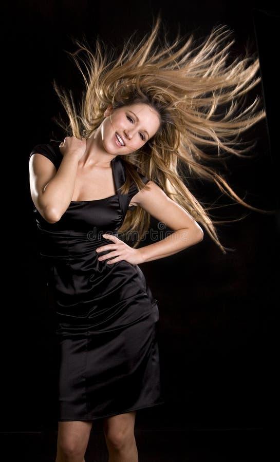 Dança da mulher imagem de stock