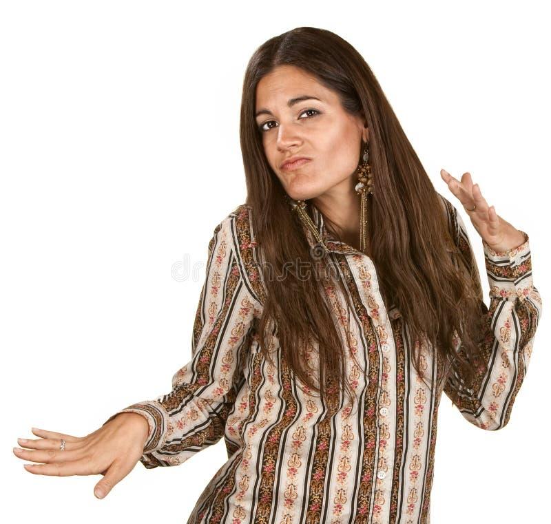 Dança da mulher com mãos fotos de stock