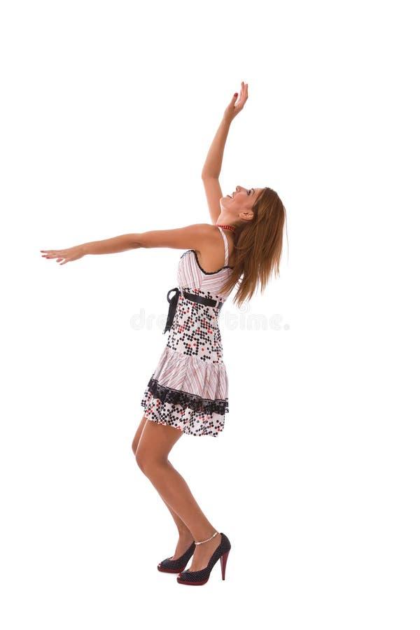 Dança da mulher nova imagens de stock royalty free
