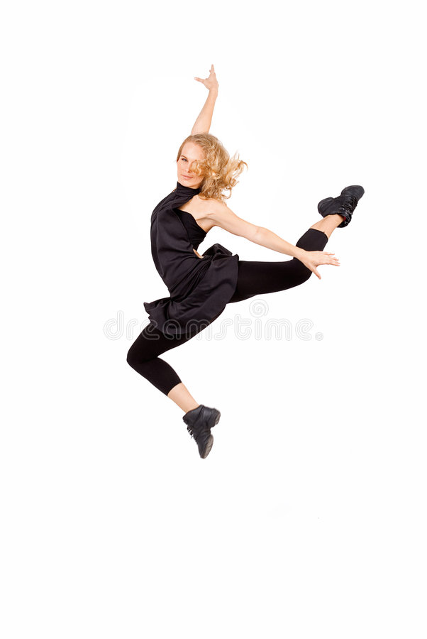Dança da mulher nova fotos de stock royalty free