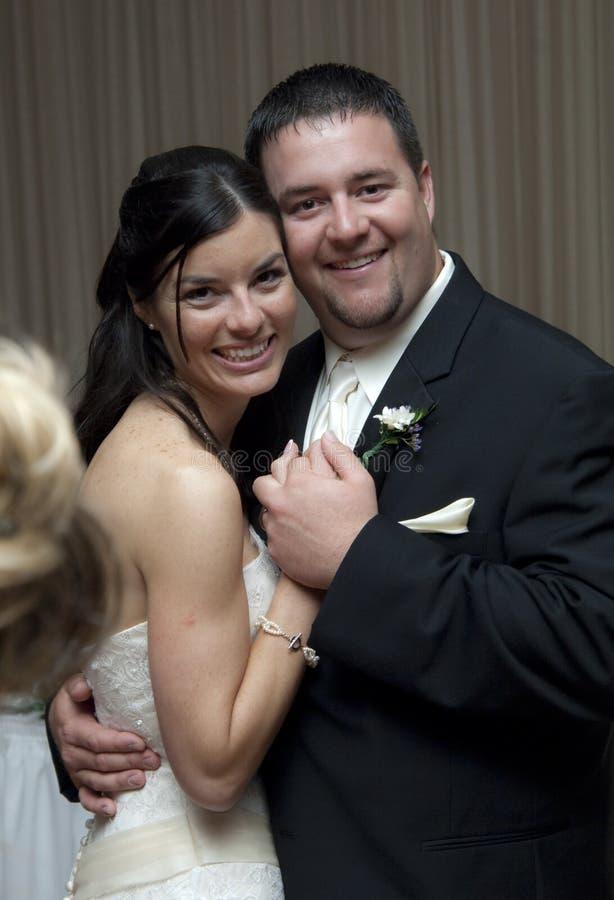 Dança da noiva e do noivo foto de stock