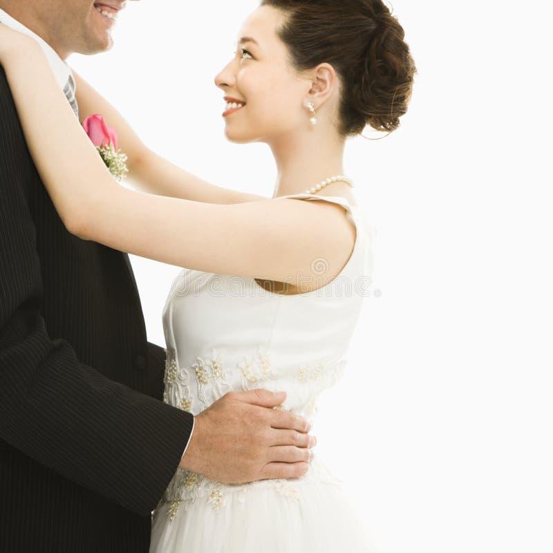Dança da noiva e do noivo. imagens de stock