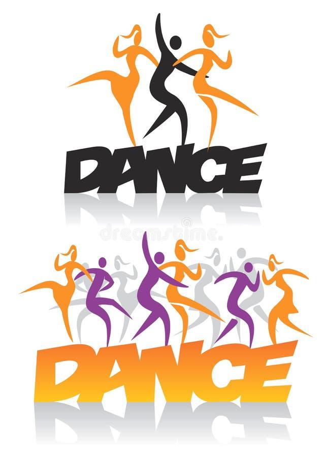 Dança da palavra com dançarinos ilustração stock