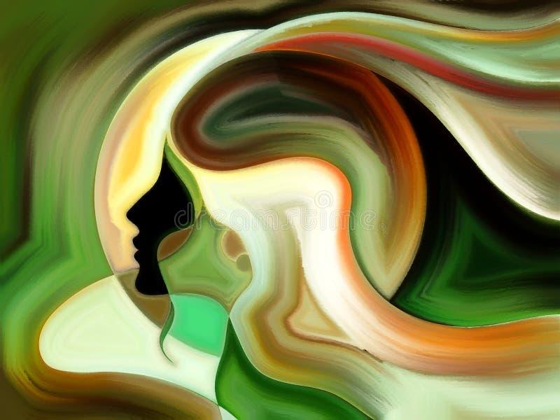 Dança da pintura interna ilustração stock