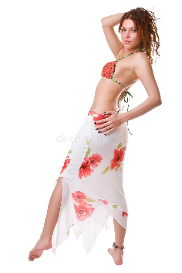 Dança da praia imagem de stock