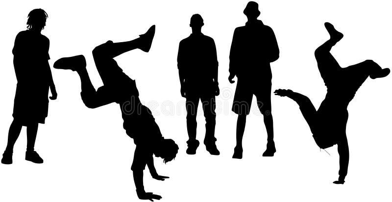 Dança da rua ilustração do vetor