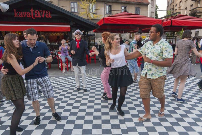 Dança da rua imagens de stock