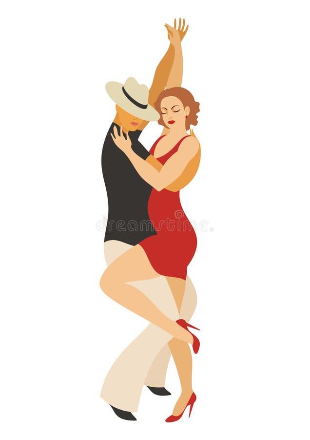 A dança da salsa ilustração do vetor