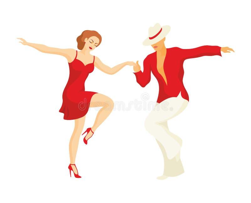 A dança da salsa ilustração royalty free