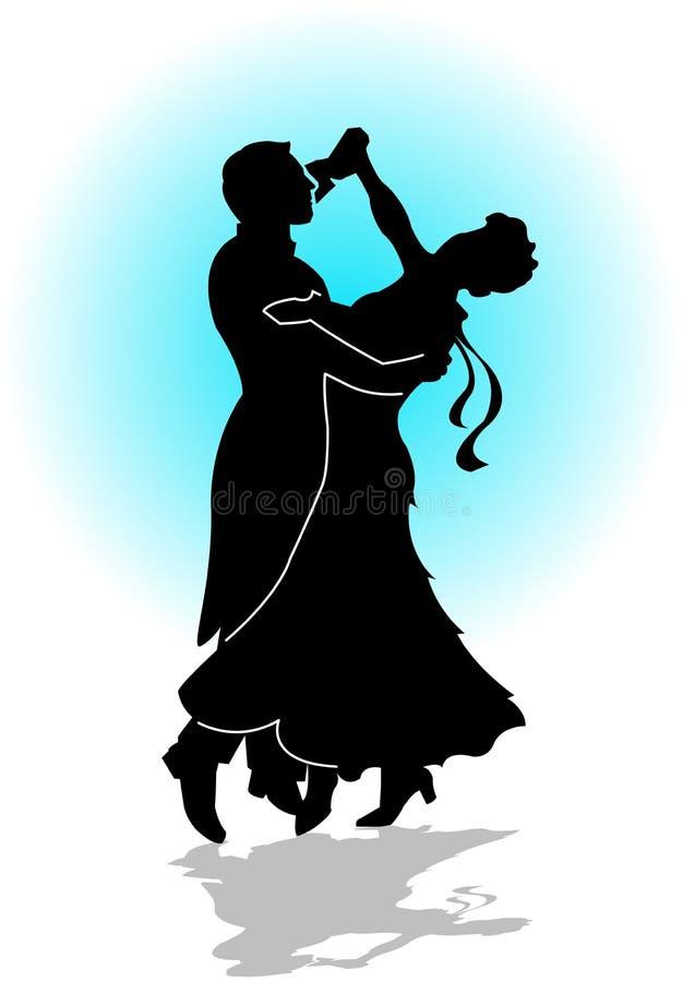 Dança da valsa ilustração royalty free