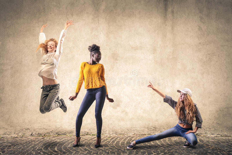 Dança das meninas fotografia de stock