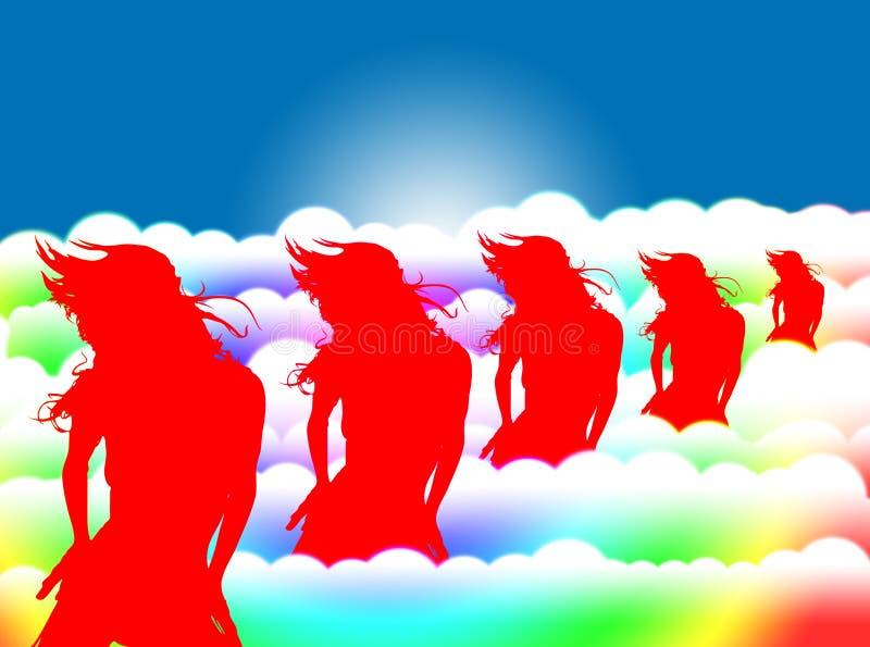 Dança das mulheres imagem de stock royalty free