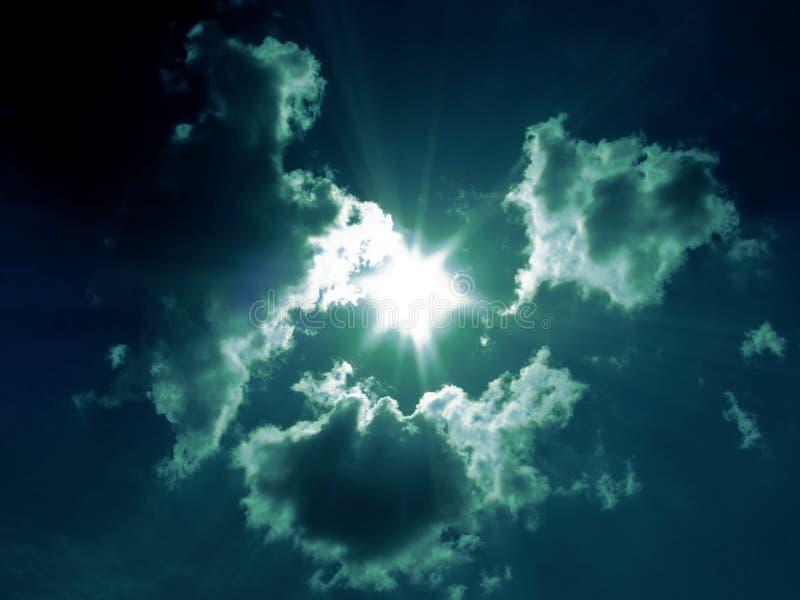 Dança das nuvens fotografia de stock royalty free